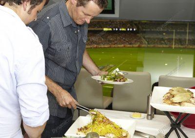 MCG Corporate Box - buffet eating